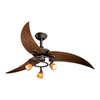 Cascadia Lighting Picard 48-in Oil Rubbed Bronze Downrod Mount Indoor Ceiling Fan with Light Kit (3-Blade)