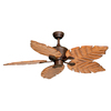 Cascadia Lighting Palm Beach 52-in Burnished Bronze Downrod Mount Indoor Ceiling Fan (5-Blade)