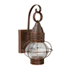 Cascadia Lighting Chatham 14-in H Gold Stone Outdoor Wall Light