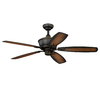 Cascadia Lighting Sebring 52-in Oil Rubbed Bronze Downrod or Close Mount Indoor Ceiling Fan with Light Kit (5-Blade)