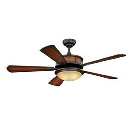 Cascadia Lighting Maritime 52-in Oil-Rubbed Bronze Outdoor Downrod or Flush Mount Ceiling Fan with Light Kit