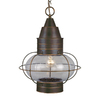 Cascadia Lighting Chatham 17.5-in Burnished Bronze Hardwired Outdoor Pendant Light