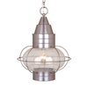 Cascadia Lighting Onion 17-1/2-in Brushed Nickel Outdoor Pendant Light