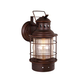 Shop Cascadia Lighting Nautical 12-in Burnished Bronze Outdoor ...