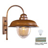 Lustrarte Bubbles 15.75-in H Antique Green Outdoor Wall Light