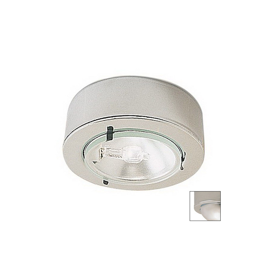 shop nora lighting hardwired under cabinet xenon puck light at lowes. Black Bedroom Furniture Sets. Home Design Ideas