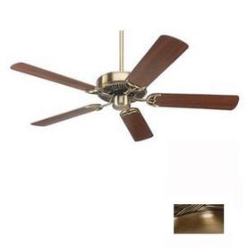 Nicor Lighting 52-in Masterbuilder Antique Brass Ceiling Fan ENERGY STAR