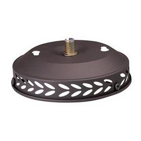 Nicor Lighting 1-Light Wrought Iron Ceiling Fan Light Kit