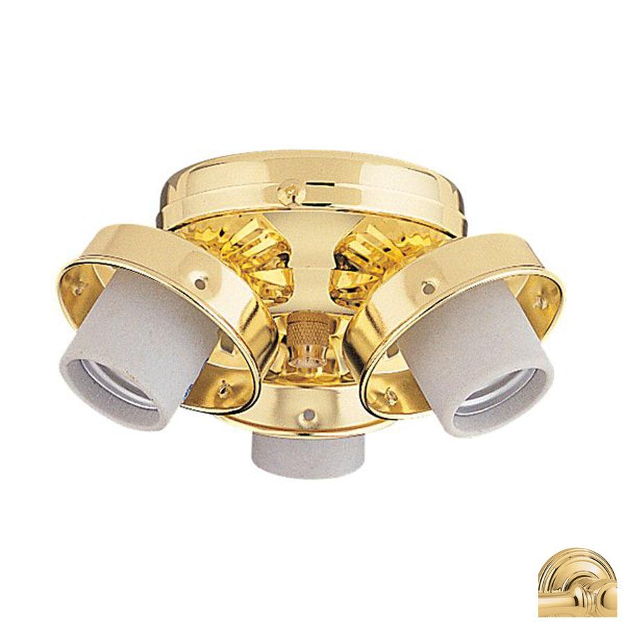 shop nicor lighting 3 light polished brass ceiling fan. Black Bedroom Furniture Sets. Home Design Ideas