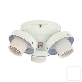 Nicor Lighting 3-Light White Ceiling Fan Light Kit
