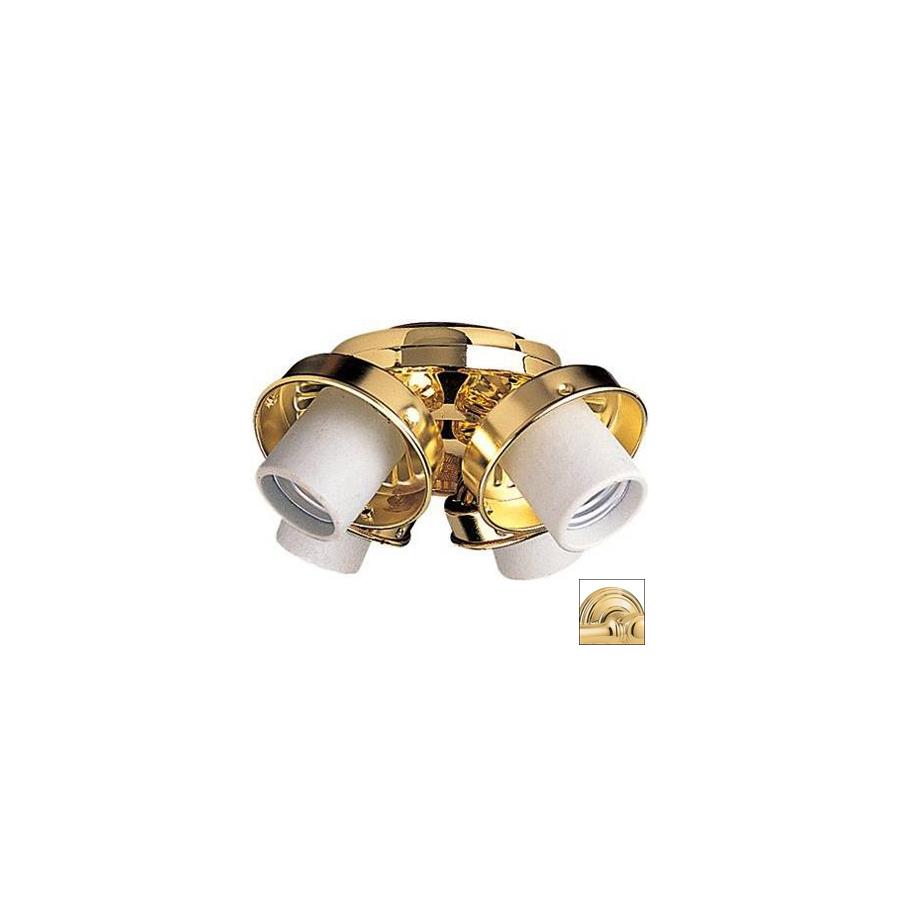 shop nicor lighting 4 light polished brass ceiling fan. Black Bedroom Furniture Sets. Home Design Ideas