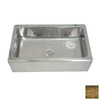 WS Bath Collections Cuisine Single-Basin Apron Front/Farmhouse Copper Kitchen Sink