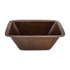 Premier Copper Products 17-Gauge Single-Basin Undermount Copper Bar Sink