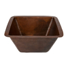 Premier Copper Products 16-Gauge Single-Basin Undermount Copper Bar Sink
