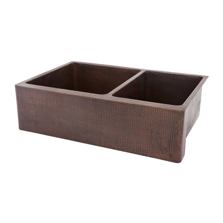 ... Double-Basin Apron Front/Farmhouse Copper Kitchen Sink at Lowes.com