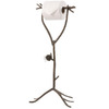 Stone County Ironworks Pine Natural Black Freestanding Floor Toilet Paper Holder