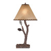 Shadow Mountain 30-in Tree Bark Table Lamp with Shade