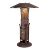 Shadow Mountain 33-in Classic Mocha/Burnished Bark Table Lamp with Alabaster Shade