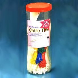 Morris Products 650-Pack Assorted Nylon Cable Ties