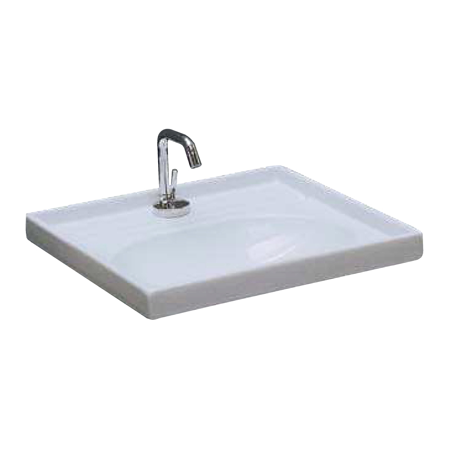... White Above Counter Square Bathroom Sink with Overflow at Lowes.com