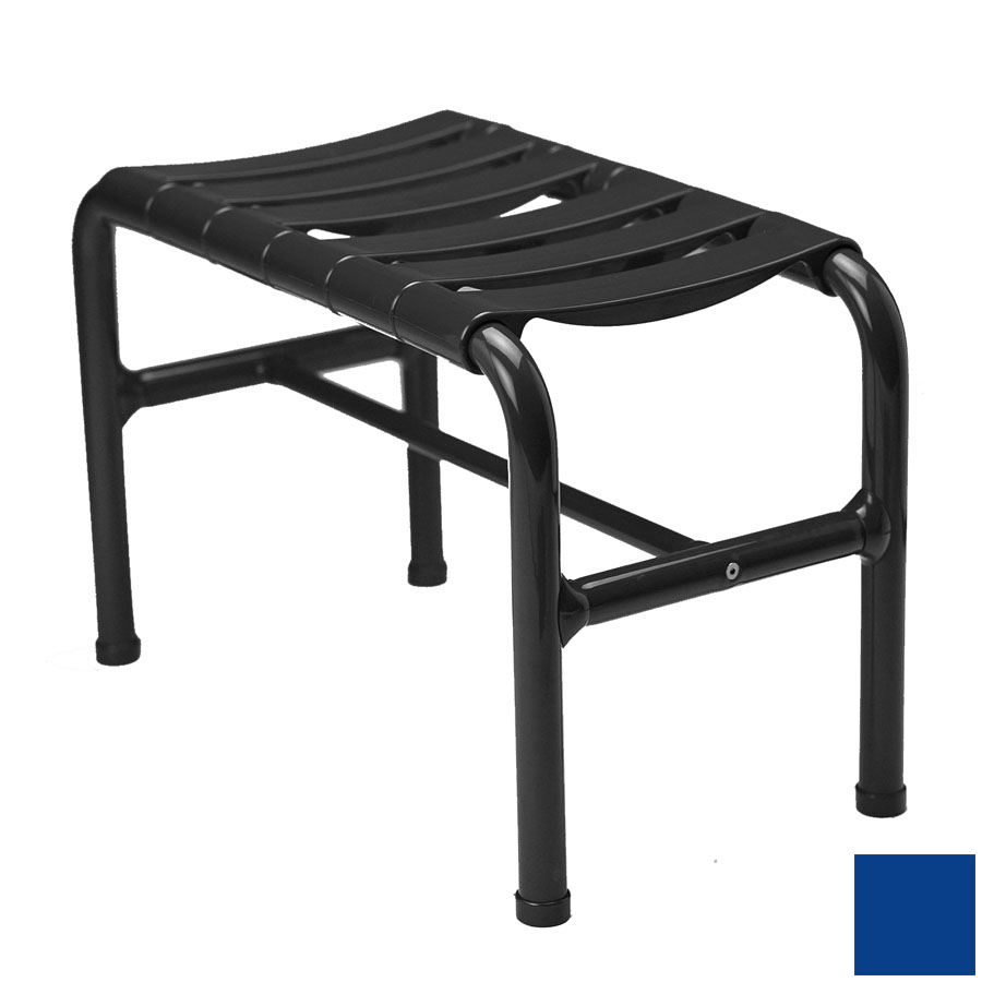 Ponte Giulio USA Glossy Blue Plastic Freestanding Shower Seat