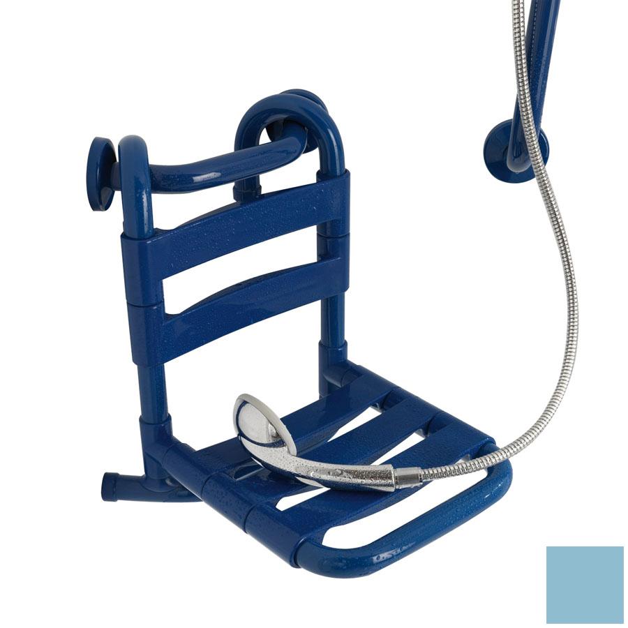 Ponte Giulio USA Glossy Light Blue Plastic Wall Mount Shower Seat