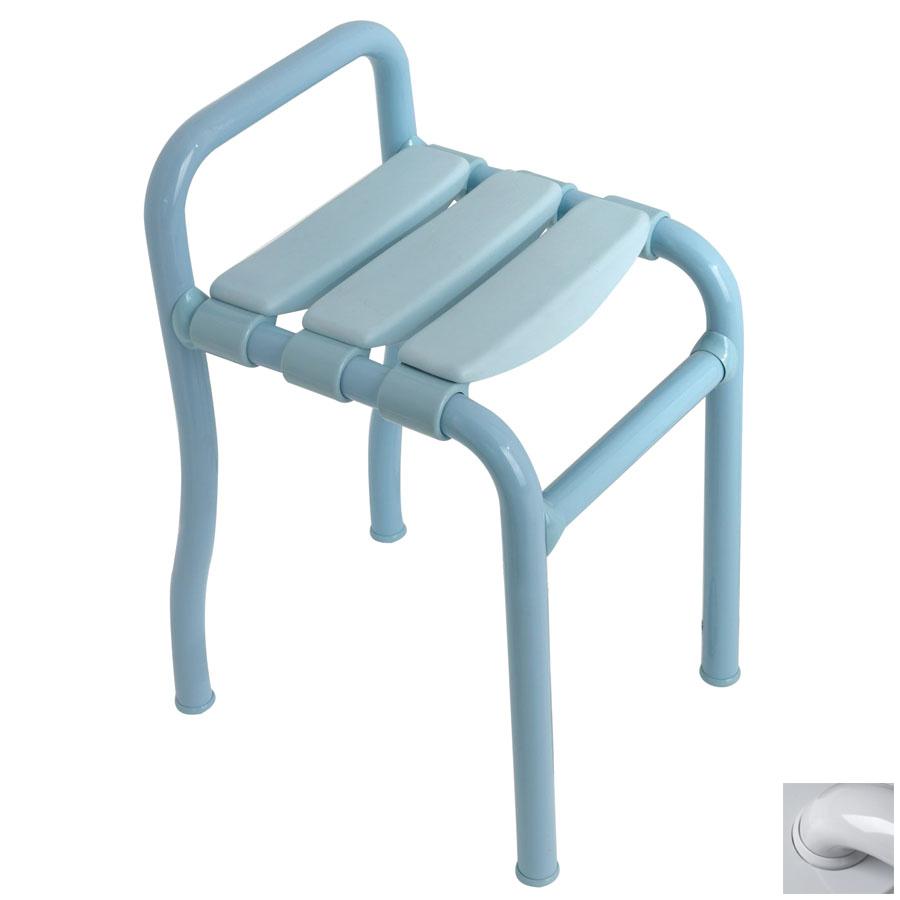 Ponte Giulio USA Glossy Grey Plastic Freestanding Shower Seat