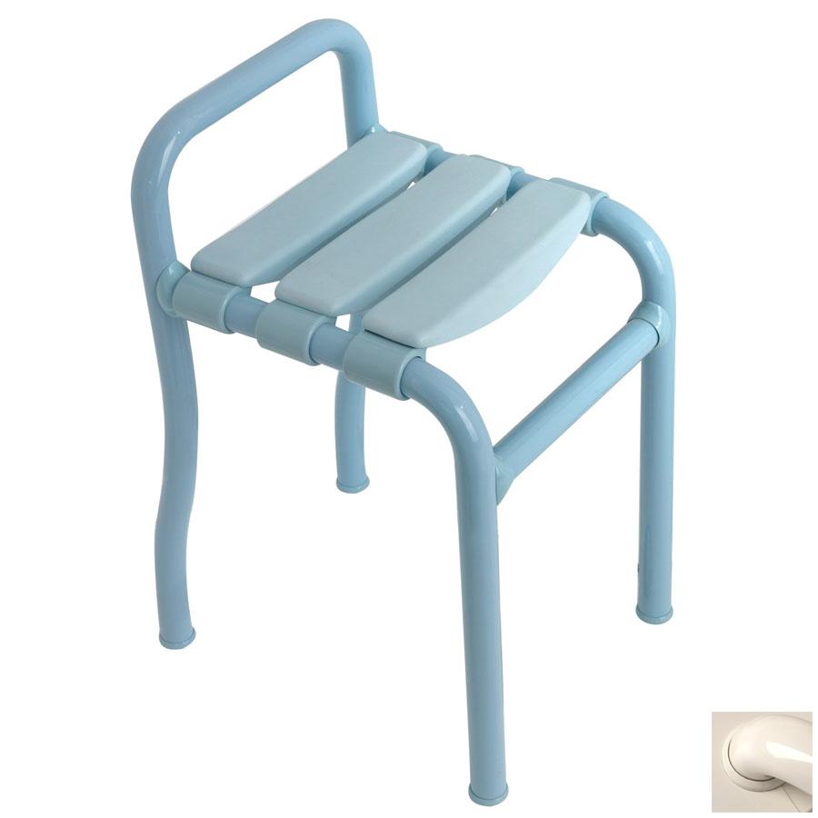 Ponte Giulio USA Glossy Ivory Plastic Freestanding Shower Seat