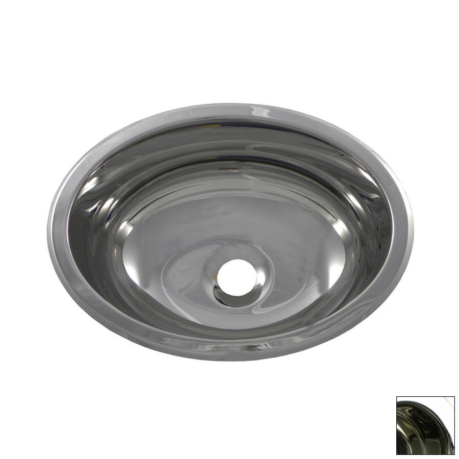 ... -Stainless Steel Stainless Steel Oval Bathroom Sink at Lowes.com