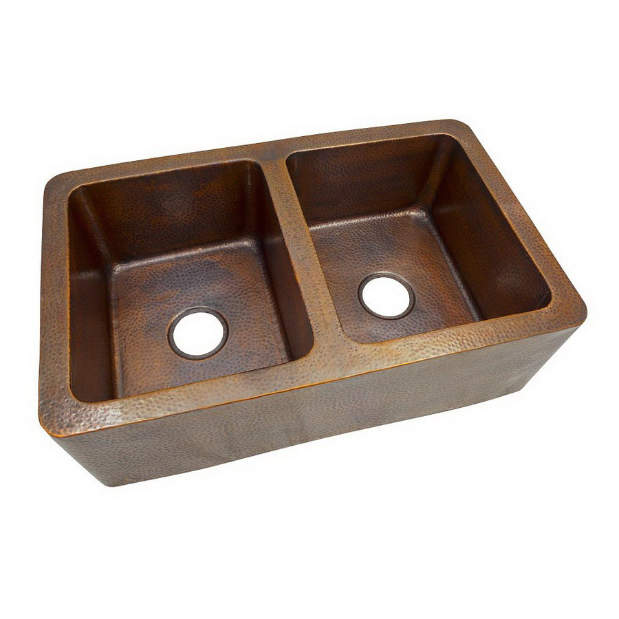 Copper Farmhouse Sink Clearance : ... Double-Basin Apron Front/Farmhouse Copper Kitchen Sink at Lowes.com