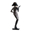 Design Toscano 76-in Black Floor Lamp with Fabric Shade