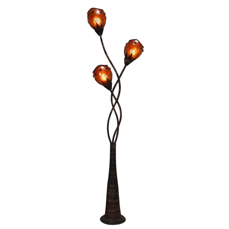 imports 70 in multi head indoor floor lamp with shade at. Black Bedroom Furniture Sets. Home Design Ideas