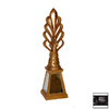 Hickory Manor House Antique Red Lamp Finial