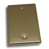 Residential Essentials 1-Gang Satin Nickel Blank Steel Wall Plate