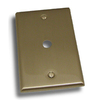 Residential Essentials 1-Gang Satin Nickel Coax Steel Wall Plate