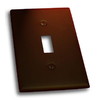 Residential Essentials 1-Gang Venetian Bronze Single Toggle Wall Plate