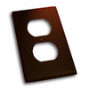 Residential Essentials 1-Gang Venetian Bronze Single Duplex Wall Plate