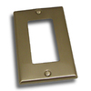 Residential Essentials 1-Gang Satin Nickel Decorator Rocker Steel Wall Plate