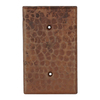 Premier Copper Products 1-Gang Oil-Rubbed Bronze Blank Metal Wall Plate