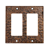 Premier Copper Products 2-Gang Oil-Rubbed Bronze GFCI Metal Wall Plate