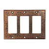Premier Copper Products 3-Gang Oil-Rubbed Bronze GFCI Metal Wall Plate