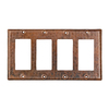 Premier Copper Products 4-Gang Oil-Rubbed Bronze GFCI Metal Wall Plate