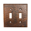 Premier Copper Products 2-Gang Oil-Rubbed Bronze Standard Toggle Metal Wall Plate