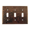 Premier Copper Products 3-Gang Oil-Rubbed Bronze Standard Toggle Metal Wall Plate