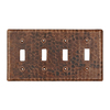 Premier Copper Products 4-Gang Oil-Rubbed Bronze Standard Toggle Metal Wall Plate
