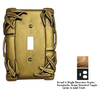 Anne at Home Bamboo 2-Gang Gold Combination Pewter Wall Plate
