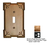 Anne at Home Pompeii 2-Gang Gold Combination Pewter Wall Plate