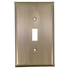 Anne at Home 1-Gang Pewter with Bronze Wash Standard Toggle Pewter Wall Plate