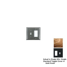 Anne at Home 2-Gang Gold Combination Pewter Wall Plate