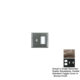 Anne at Home 3-Gang Bronze Combination Pewter Wall Plate